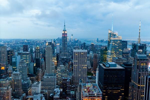 """Vista de la ciudad de Nueva York desde el """"Top of the Rock"""""""