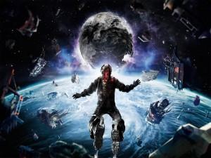 Postal: Dead Space 3: flotando en el espacio exterior