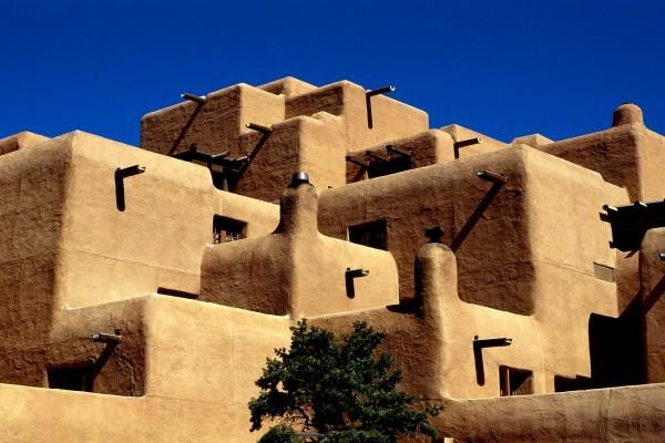 Construcciones en el pueblo de Taos, Nuevo México