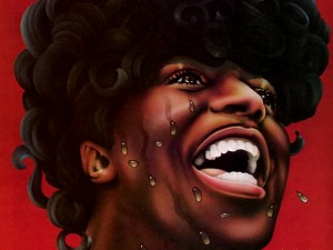 Caricatura de Little Richard (cantante, compositor y pianista de rock and roll)
