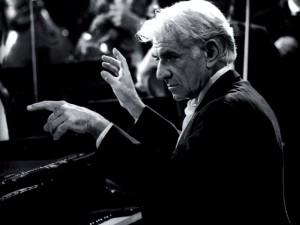 Postal: Leonard Bernstein (compositor, pianista y director de orquesta)