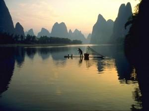 Postal: Pescador tailandés