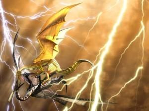 Postal: Lucha de dragones