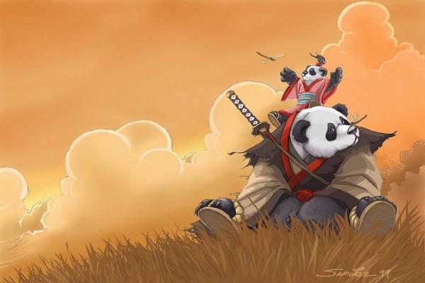 Pandas samurais