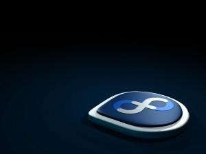 Postal: Logo de la distribución Linux Fedora