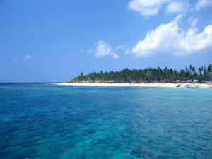 Una playa llena de cabañas