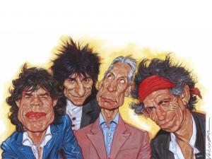 Caricatura de los Rolling Stones
