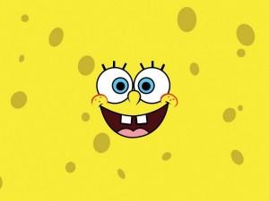 Bob Esponja sonriendo