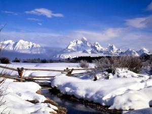 Postal: Invierno en las montañas