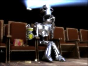 Postal: Robot en el cine