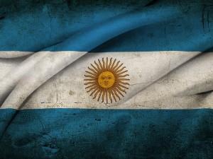 La bandera nacional de Argentina