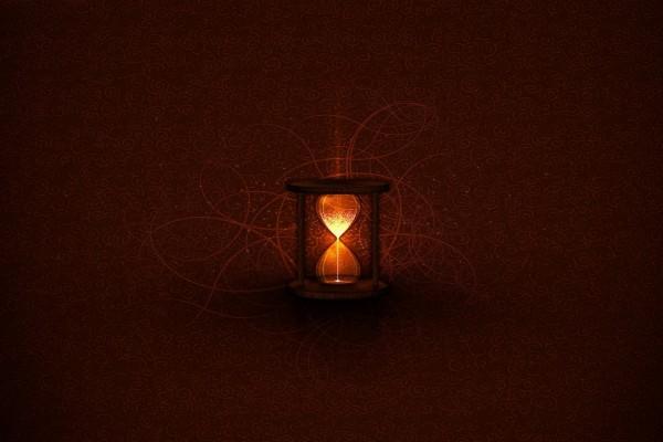 Reloj de arena luminosa