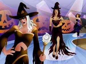 Pasarela de brujas para Halloween