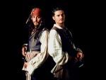 """Orlando Bloom y Johnny Depp en """"Piratas del Caribe"""""""