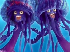 Postal: Las medusas Ernie y Bernie (El Espantatiburones)