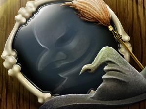 Bruja reflejada en el espejo