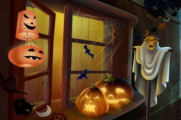 Casa decorada para Halloween