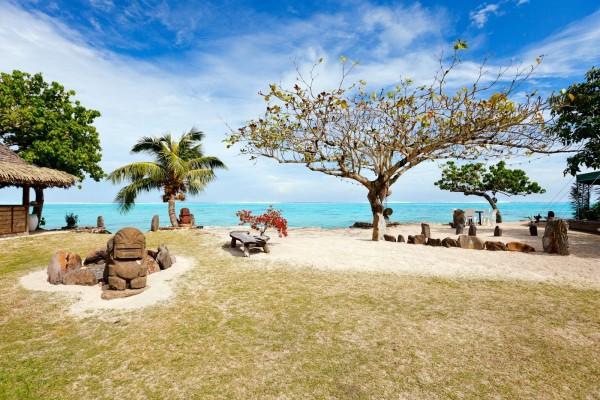 Una playa tropical