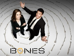 """Postal: Protagonistas de la serie de televisión """"Bones"""""""