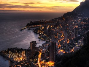 Postal: Mónaco de noche