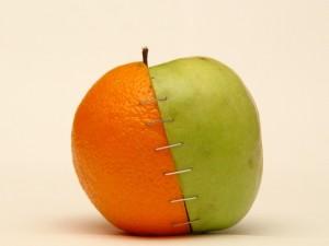 Mitad naranja, mitad manzana
