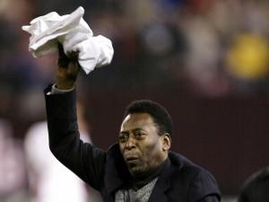 Postal: El mítico ex-futbolista brasileño Pelé