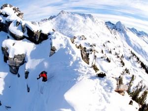 Esquí extremo en las montañas de Columbia, Canadá
