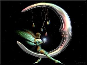 Un hada en la luna
