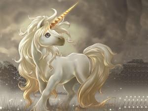 Postal: Pequeño unicornio