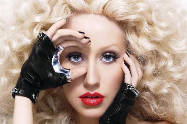 El rostro de Christina Aguilera