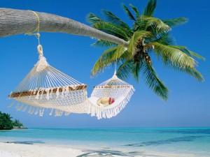 Postal: Hamaca en la playa