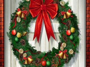 Postal: Corona navideña