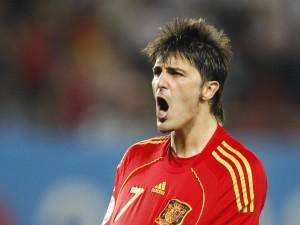 David Villa, jugador de la Selección Española de Fútbol