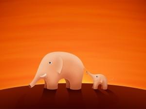 Dos elefantitos