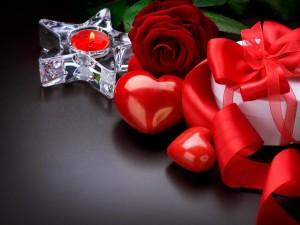 Postal: Un regalo romántico