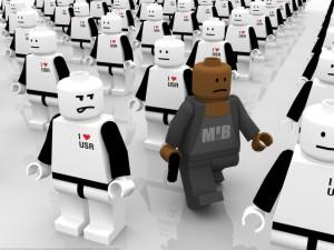 Postal: Robots de Lego