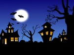 Murciélagos en la noche