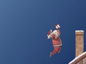 Santa Claus haciendo un mate