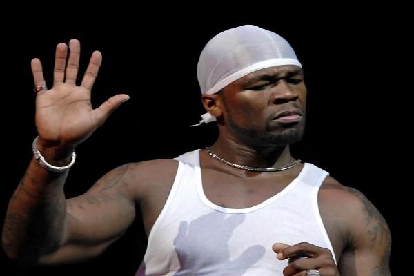 El rapero 50 Cent en concierto