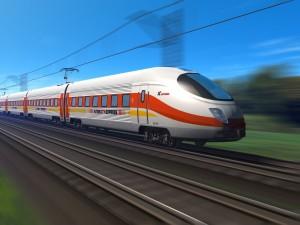 Postal: Tren de alta velocidad