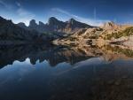 Lago de Allos en el Parque nacional de Mercantour (Francia)
