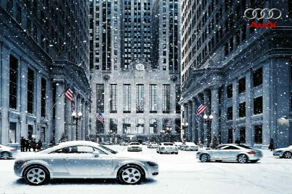 Anuncio de Audi bajo la nieve