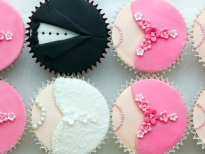 Postal: Cupcakes de boda