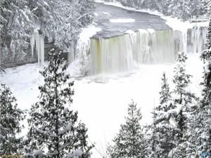 Postal: Las Cataratas del Niágara congeladas