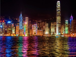 Sinfonía de luces en Hong Kong