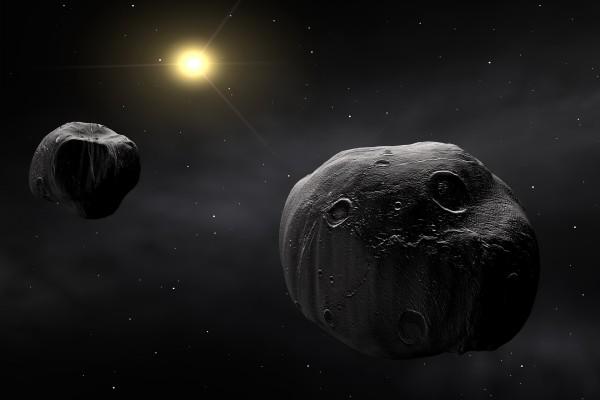 Meteoritos en el espacio exterior