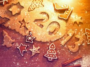 Postal: Galletas para el Año Nuevo 2013