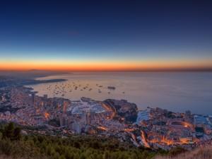 Postal: Amaneciendo en Mónaco