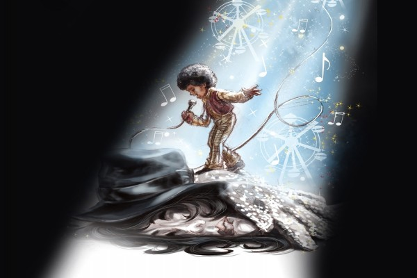 Caricatura de Michael Jackson de niño