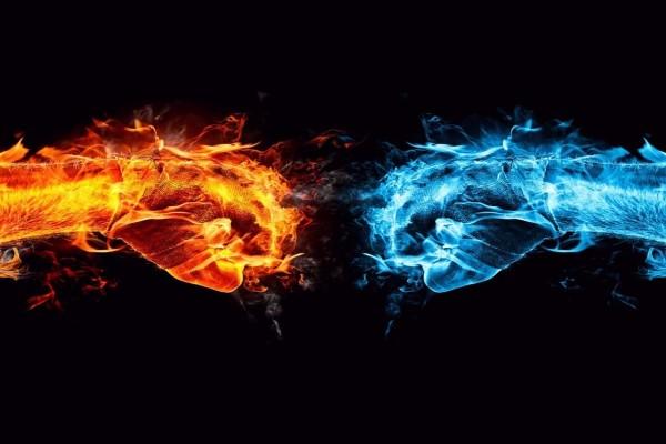 Choque entre el fuego y el agua
